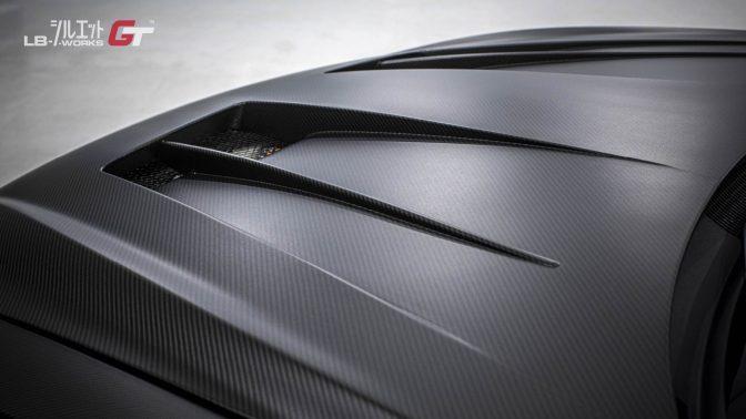 LB★Silhouette Works GT 35GT-RR Bonnet Hood