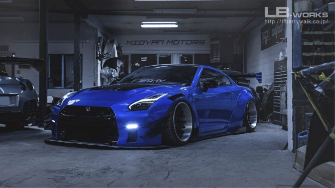 LB★Works Nissan GT-R R35 Type 2 Front Canards