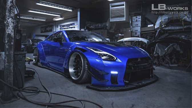 LB★Works Nissan GT-R R35 Type 2 Front Bumper & Diffuser