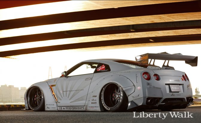 LB★Works Nissan GT-R R35 Ver 1 Wing GT Style Big Wang