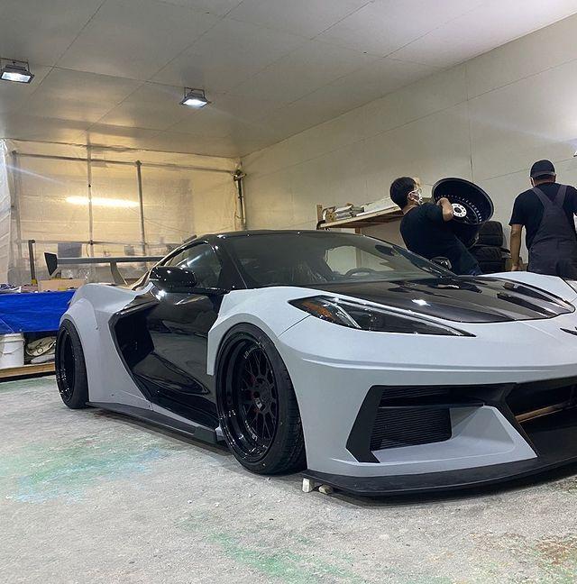 LB★Silhouette Works Chevrolet Corvette C8 Front Bumper
