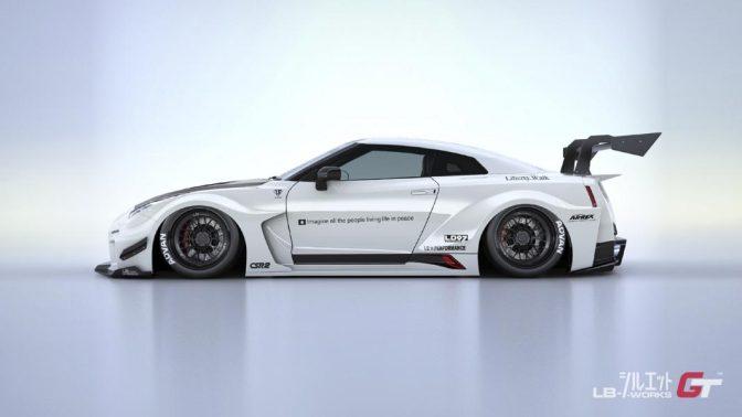 LB★Silhouette Works GT 35GT-RR Rear Wing Ver. 1