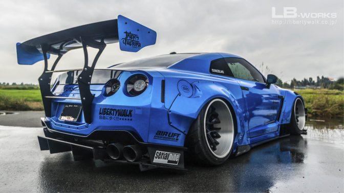 LB★Works Nissan GT-R R35 Type 2 Rear Diffuser